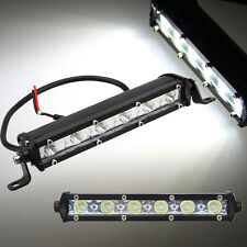"2x 7"" 18w Cree Spot Slim Led Work Light Bar Single Row Offroad Lamp SUV Driving"
