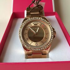 Juicy Couture Emma Rose Gold Plated Crystal Watch 1901447
