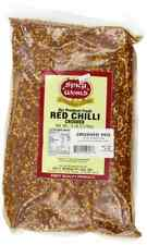 Spicy World Crushed Pepper Chilli Flakes, Red, 5 Pound .