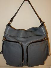 orYANY Casey Lamb Leather Hobo Bag Slate Grey