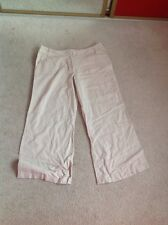 Florence And Fred 3/4 Linen Trousers Size 16 Long.