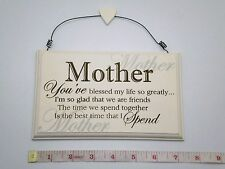 Blessed Mother Plaque Sign Gift Ideas for Mum Mom For Her Christmas & Birthdays