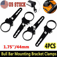 "4X 1.75"" 44mm Mount Bracket Clamp Bull Bar Roll Cage Tube LED Work Light Offroad"