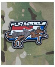 Morale Patch - Milspec Monkey - FUR MISSLE K9 Dog - PVC - Full Color
