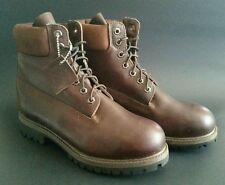 TIMBERLAND BROWN LEATHER PADDED ANKLE WORK BOOT MENS SIZE US 7.5 WIDE