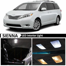 White Interior LED Lights Package Kit for 2011-2015 Toyota Sienna