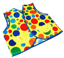Multi Colour Polka Dot Clown Waistcoat Circus Joker Fancy Dress