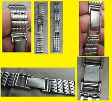 g  BRACELET for  wristwatch men VERY RARE MESH SOFT SPECIAL SHAPE OF WAVE NOS