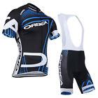 Mens Team Cycling Jersey Bib Shorts Set Bike Riding Outfits Shirt Pants Suits