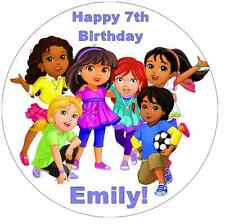 "Dora And Friends Into The City Personalised Cake Topper 7.5"" Edible Wafer Paper"