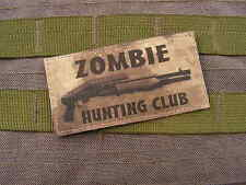 Patch Velcro - ZOMBIE HUNTING CLUB - ATAC SPAS 12 airsoft WALKING DEAD evil