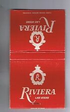 Riviera Hotel Casino Red Satin Old Logo Vintage Matchbook  Las Vegas Nevada