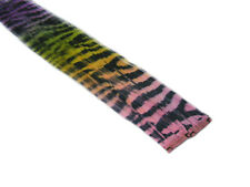 """CLIP-IN 12"""" HAIR EXTENSION TRANSITIONAL ZEBRA TIGER PINK YELLOW GREEN PURPLE"""