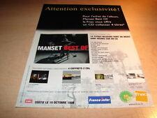 GERARD MANSET - BEST OF!!!!!!!!!!!!T!!PUB MAGAZINE