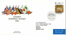 5 JUNE 1984 ECONOMIC SUMMIT POST OFFICE FIRST DAY COVER LONDON SW SHS (b)