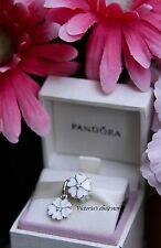 New Authentic Pandora Springtime White Primrose Charm Set #791822EN12, #390365EN
