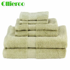 NEW 6 Piece 100% Egyptian Cotton 725 Gram Bath Towel Towels Set  Green