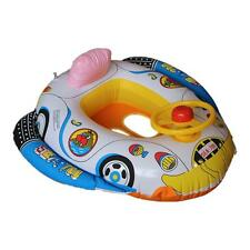 Baby Kids Inflatable Swimming Car Seat Swim Ring Pool Float Boat with Wheel Horn