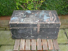 Vintage Wooden Tool Storage Cabinet Chest Table Industrial Tool Box Shabby Chic