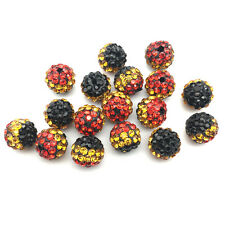 10Pcs Cheetah Crystal Micro Pave Disco Bracelet Spacer Leopard Shamballa Beads