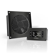 """AIRPLATE T3, Cooling Fan System 6"""" Thermostat Control, Home Theater AV Cabinets"""