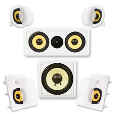 Acoustic Audio HD-515 In-Wall/Ceiling Home Theater Surround 5.1 Speaker System