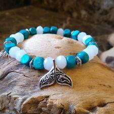 Da Donna Whale Tail Braccialetto Surfista Tribale Legno Braccialetto Braccialetto dell'amicizia