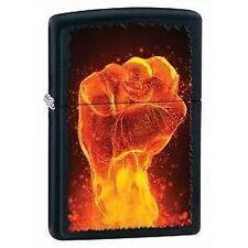 Accendino ZIPPO 28308 Fire fist Matte FIAMME pugno fiammeggiante fuoco nero