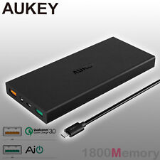 GENUINE Aukey 16000mAh Portable Power Bank External Battery Fast Charger QC 3.0