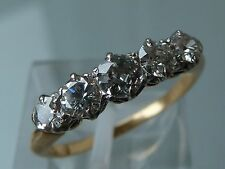 SUPERB 1930's DECO DIAMOND FIVE STONE  RING 18CT PLATINUM .75CT 3/4T