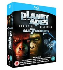 PLANET OF THE APES 7 Movie Complete Bluray Collection Boxset All Film New Sealed