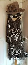 PHASE EIGHT Designer Lace Dress & Wrap Shawl Suit Mother of the Bride Size 12