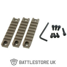 3 Piece G 36 C K TAN Rail Set Kit Airsoft Weaver 20mm x 98mm Side Top Mount DE