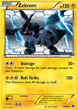 BW NEXT DESTINIES POKEMON REVERSE HOLO RARE CARD - ZEKROM 50/99