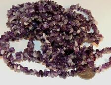 Amethyst Polished Chip Strand Gemstone Beads 34 inch strand (2855)