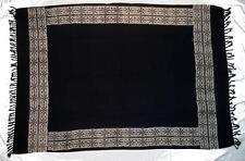 Sarong/Pareo/Wrap - Black with Tan Batik Border - handmade in Bali - Hary Dary