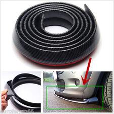 DIY 2.5m Carbon Fiber Autos Front Bumper Splitter Spoiler Skirt Strip Protector