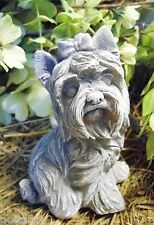 Latex with plastic backup yorkie dog concrete mould plaster mold