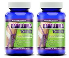 Caralluma Fimbriata 1000mg (10:1) Ratio Appetite Suppressant Weight Loss 2 Pack