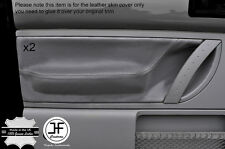 Grey stitch cuir gris 2X porte avant carte trim covers fits vw beetle 98-11