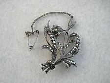 Vintage Art Deco? Sterling Silver & Marcasite Bluebell Brooch