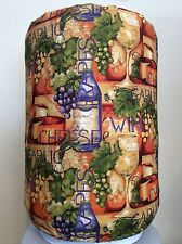 WINE GRAPES VINES CHEESE 5 GALLON WATER COOLER BOTTLE COVER KITCHEN DECORATION