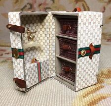 Pat Tyler Dollhouse Miniature Designer Steamer Trunk Bag Luggage Case 1:12