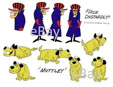 Hanna Barbera STYLE GUIDE PLATE - WACKY RACES - DICK DASTARDLY & MUTTLEY