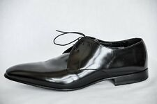 CALVIN KLEIN COLLECTION Mens Black Patent Leather Oxford Dress Shoe 44.5 NEW