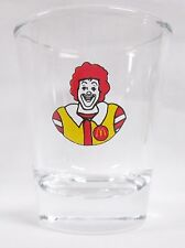 Ronald McDonald Image on Clear Shot Glass