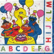 SESAME STREET ABC SMALL NAPKINS (16) ~ Birthday Party Supplies Cake Dessert
