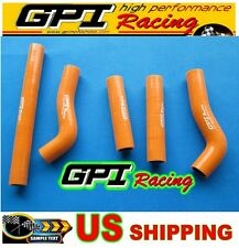KTM 250SXF SXF 250 2006 06 silicone radiator hose orange