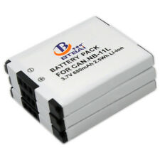 3 NB-11L Battery for Canon PowerShot A2300 A2400 A2500 115 A2600 A3400 320 IS HS