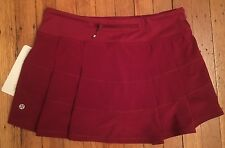 Lululemon Pace Rival Skirt II*R Size 10 Rosewood Red NWT